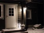 Valoa ja lumihiutaleita
